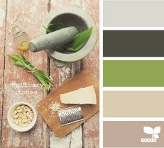 Nice color combo. Would add more grey neutrals and make the green more pea green!!