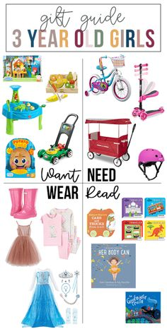 want, need, wear, read: the gift guide for 3 year old girls