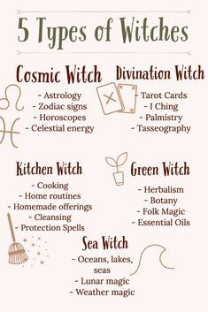 Which Witch Are You? 5 Types of Witches