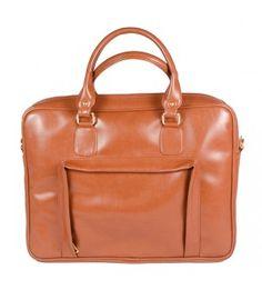 Tan laptop bag