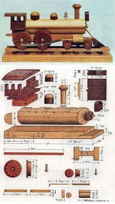 Wooden Locomotive Plans - Children's Wooden Toy Plans and Projects | WoodArchivist.com