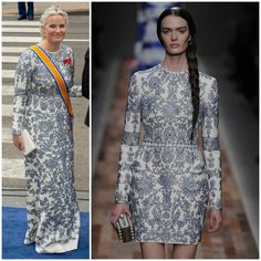 Crown Princess Mette-Marit of Norway gown by Valentino