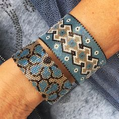 Fleuri ou géométrique ? Ketikoparis.Com 💙💜💚 ➡️ lien dans ma bio #Jewelry #bijoux #miyuki #createur #faitmain #braceletforsale #bracelet…