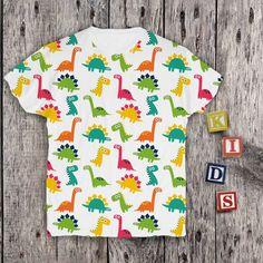 Dinosaurs Graphic Baby Clothing Design Boys Tshirt Tyrannosaurus Rex Baby Boys Printed Outfit Baby Girls Cute Shirt Childs Custom Tshirt 113