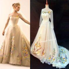 Movie Wedding Dresses, Wedding Dress Costume, Wedding Movies, Wedding Dress Chiffon, Costume Dress, Bridal Dresses, Wedding Gowns, Train Costume, Cinderella Gowns