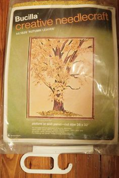 """Bucilla Creative Needlecraft Kit #1829 """"Autumn Leaves"""" Picture Wall Panel 26""""  #Bucilla"""