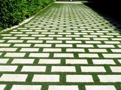 Grass Driveways with Permeable Pavers