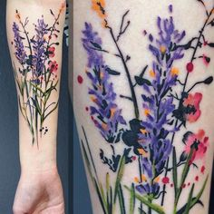Flowers for Viktoria! @noiiaberlin  #lavender #flowers #flowertattoo #floraltattoo #aquarell #aquarelltattoo #abstract #abstracttattoo #watercolor #watercolortattoo #juliarehme #tattoo #tattooart #tattooing #tattooartberlin #wctattoos