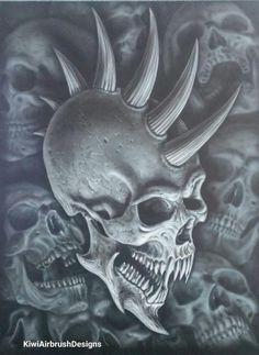 Image result for devil skull smoke airbrush