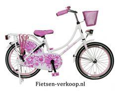 Omafiets Wit 18 Inch | bestel gemakkelijk online op Fietsen-verkoop.nl