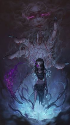 Witch Characters, Fantasy Characters, Anime Characters, Anime Witch, Fantasy Kunst, Dark Fantasy Art, Dark Anime, Identity Art, Anime Kunst