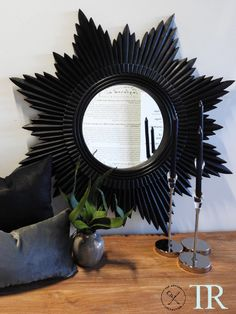 Agatha- Midnight Sunburst Mirror Sunburst Mirror, Mirrors, Artisan, Collection, Craftsman, Mirror, Glass