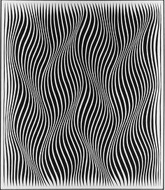 Obsession II / Julian Stanczak / 1965 / acrylic on canvas