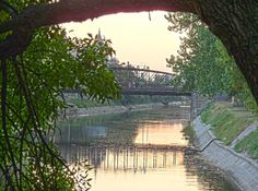Sonnenuntergang, Eisenbrücke, Temeswar Pictures, Sunset