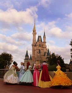 I feel like this is Cinderella showing off her castle to some of the other princesses Cindy: Jealous? Ariel and Belle: Whatever we're getting ours soon Aurora: Mine came first Tiana: The food there isn't even good Snow: At least my prince remembered my face