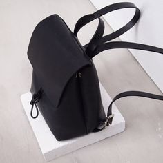 """""""Our first 'Alfie Two' Basic Backpack prototype. Check out related backpacks on Fanatic Leather Store. Small Black Leather Backpack, Leather Bag, Leather Store, My Bags, Purses And Bags, Minimalist Bag, Casual Boots, Leather Accessories, Backpack Bags"""