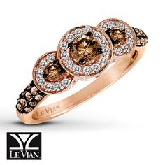 5/8 ct. t.w. Chocolate Diamonds Ring 14K Strawberry Gold® really like this and it is affordable