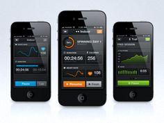 Sports tracking app mock-ups