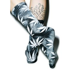 HUF Tie Dye Plantlife Crew Sock ($15) ❤ liked on Polyvore featuring intimates, hosiery, socks, tye dye socks, tie-dye socks, patterned hosiery, patterned socks and tie dyed socks