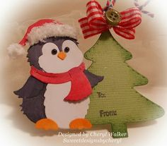 Sweeet Designs By Cheryl: CottageCutz Jolly Penguin Tag