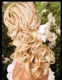 Wedding Hair Style - half up, half down, curls and long! - LINDSAYFUNKE's Black Wedding by Color Blog