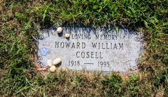 Headstone for Television Sportscaster, Howard Cosell, Westhampton Cemetery, Westhampton, NY (08/09/2016)