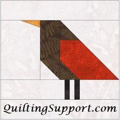 Free Bird 3 Paper Piecing Foundation Block
