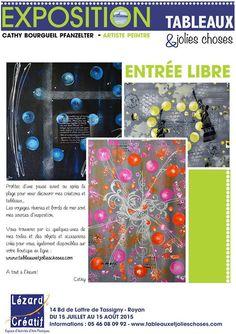 Exposition 15 juillet au 15 août 2015 au Lézard Créatif de Royan de Cathy BOURGUEIL
