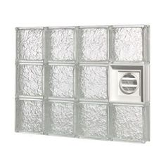 pittsburgh corning guardwise 32 in icescapes pattern dryervented glass block at the home depot