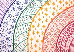 OOAK rainbow zentangle ACEO rainbow doodle multicolor от PeachPod