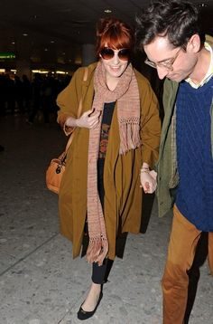 Florence Welch street style. I love all the layers