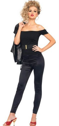 Sandy Grease Adult Costume, wear all black and a blonde wig! The one that you want - - #Womens #Halloween #Costumes