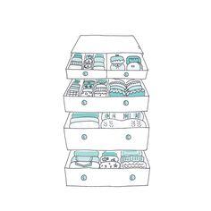 Cómo-ordenar-ropa-en-cajones-Marie Kondo Organiser Son Dressing, Tiny House Closet, Konmari Method, Marie Kondo, Room Planning, Tidy Up, Closet Organization, Getting Organized, Ideal Home