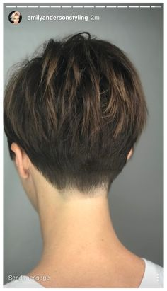 Short Hair Cuts For Women, Short Hairstyles For Women, Straight Hairstyles, Short Hair Styles, Teenage Hairstyles, Undercut Hairstyles, Pixie Hairstyles, Undercut Pixie Haircut, Short Hair Back View