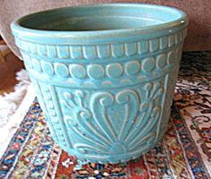 Huge vintage Ransbottom porch pot. For sale at More Than McCoy at www.morethanmccoy.com
