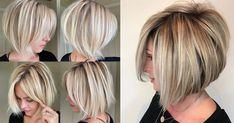 16 Simple Short Haircuts For Women Blonde Pixie, Blonde Bobs, Blonde Hair, Very Short Bob, Messy French Braids, Short Hair Trends, Short Braids, Long Bangs, Short Hair Cuts For Women