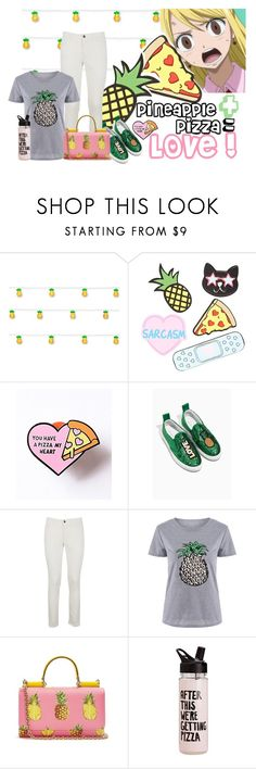 """Pineapple Pizza"" by maggiecakes ❤ liked on Polyvore featuring Studio Mercantile, Forever 21, Dolce&Gabbana and ban.do"