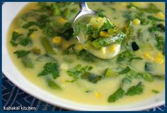 Kahakai Kitchen: Creamy Corn Soup with Vegetables and Poblano Chile for Souper (Soup, Salad & Sammie) Sundays