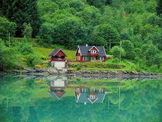 View of Fjaerland, Norway