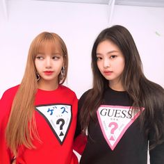 blackpink, lisa, and jennie image Kpop Girl Groups, Korean Girl Groups, Kpop Girls, Blackpink Jennie, Forever Young, Yg Entertainment, K Pop, Divas, Toddler Girls