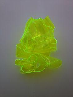 Neon art structure installation