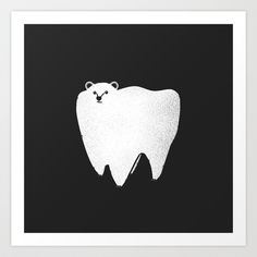 Molar Bear Art Print by Zach Terrell - $15.00