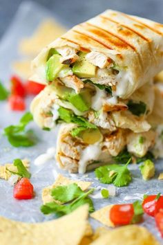 These chicken and avocado ranch burritos are so good, and only take 15 minutes to make!