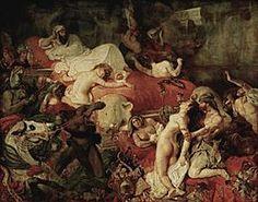 La Mort de Sardanapale, huile sur toile, 392 x 496 x 0,55 cm. 1827. Musée du Louvre, Paris.