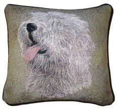 Old English Sheepdog Tapestry Cushion Dog Cushions, Old English Sheepdog, Tapestry Design, Dog Design, Dog Owners, Throw Pillows, Detail, Dogs, Gifts