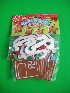 Creative Hands COOL FOAM STICKERS Makes 8 Gingerbread Houses NIP #CreativeHands