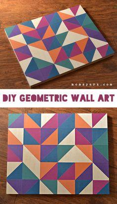 DIY Geometric Wall Art with Mod Podge