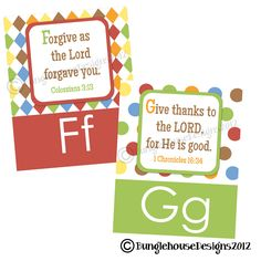 ABC Scriptures for Kids Children's Alphabet by bunglehousedesigns, $20.00