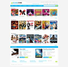 CD DVD Magento Themes by Mercury