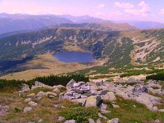 Zanoaga Glacier Lake in Retezat National Park, ROMANIA